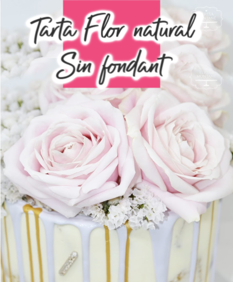 tarta flores naturales boda comunion pasteleria personalizada teresa muntane barcelona sant feliu de llobregat